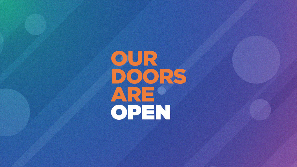 Our Doors are Open graphic