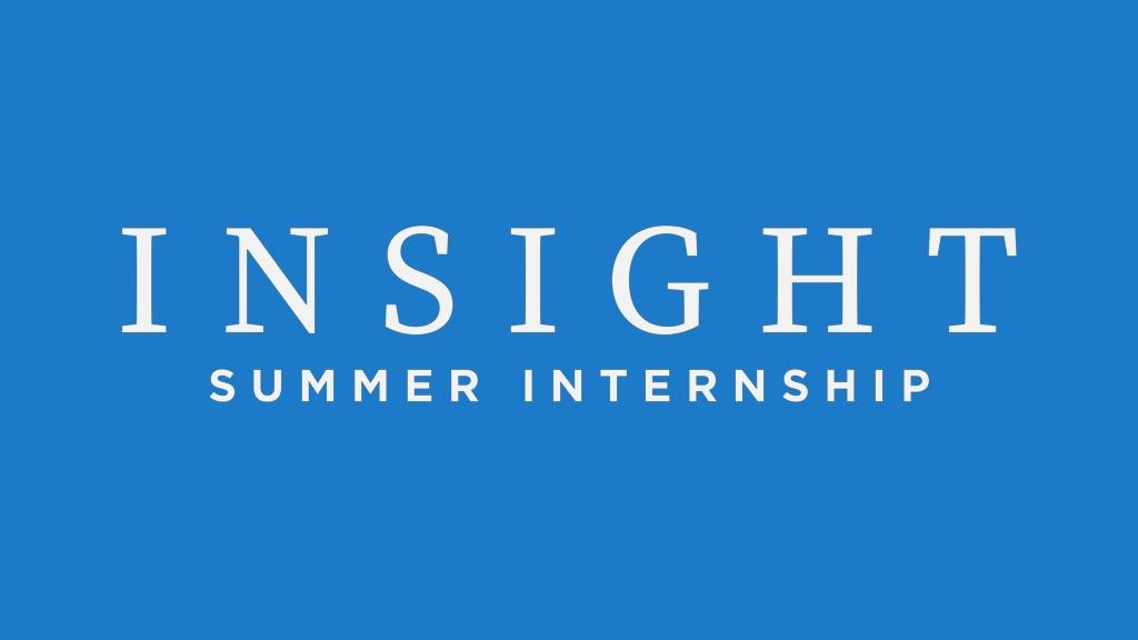 Insight Summer Internship